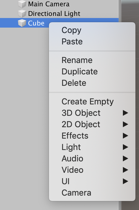 Edit game object
