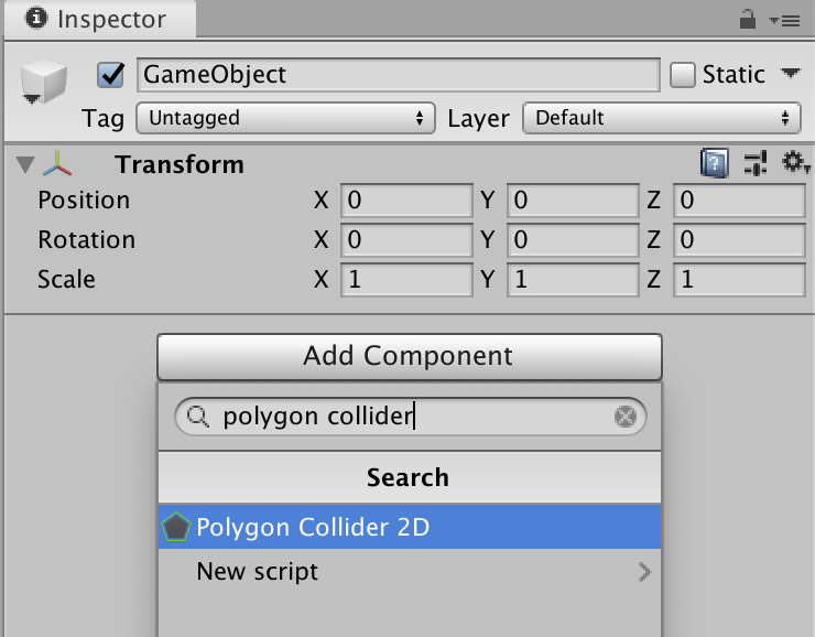 polygon collider