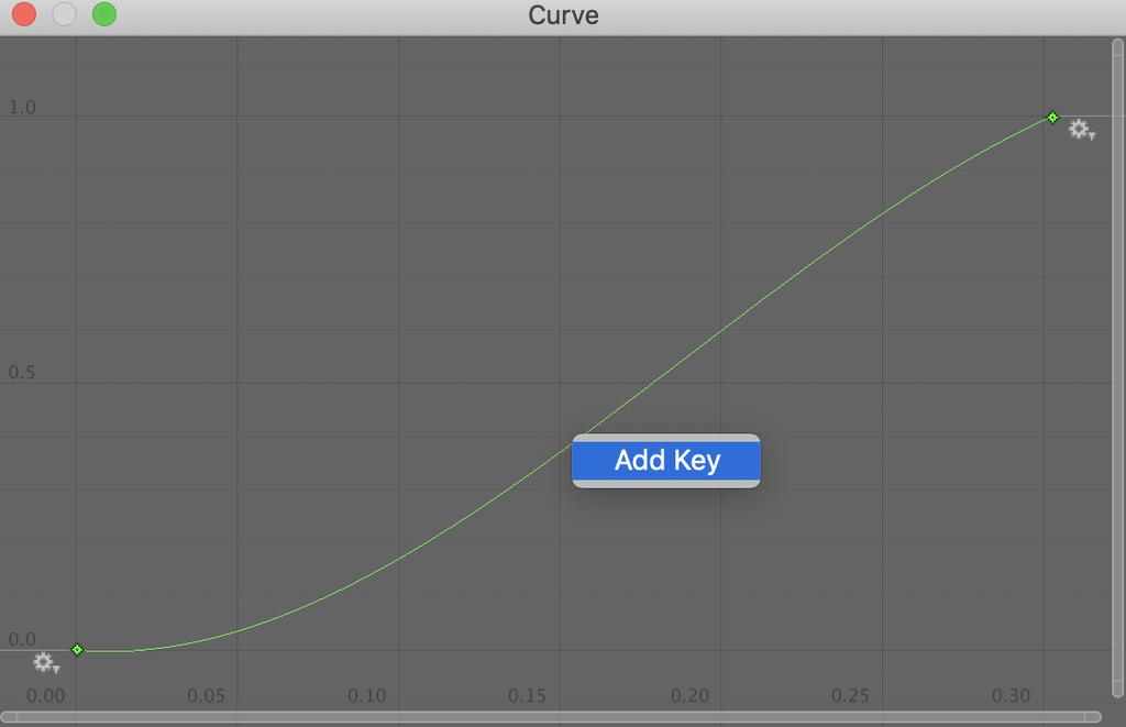 animation curve add key