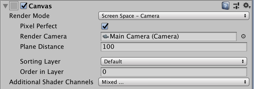 canvas render mode screen space camera