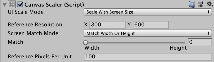 canvas scaler match width or height