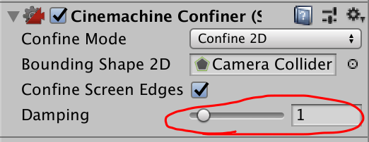 cinemachine confiner damping
