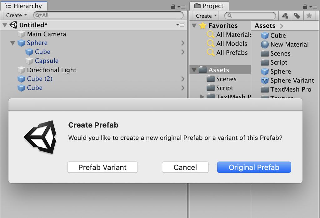 create prefab variant