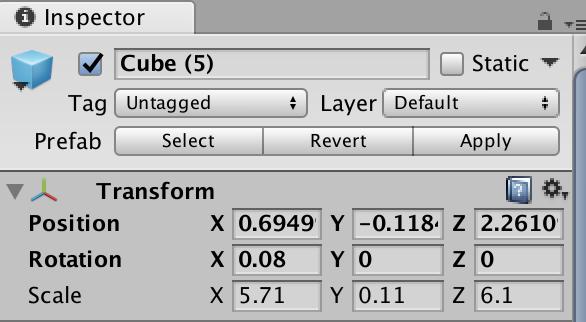 change prefab parameters