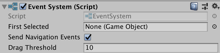 event system inspector