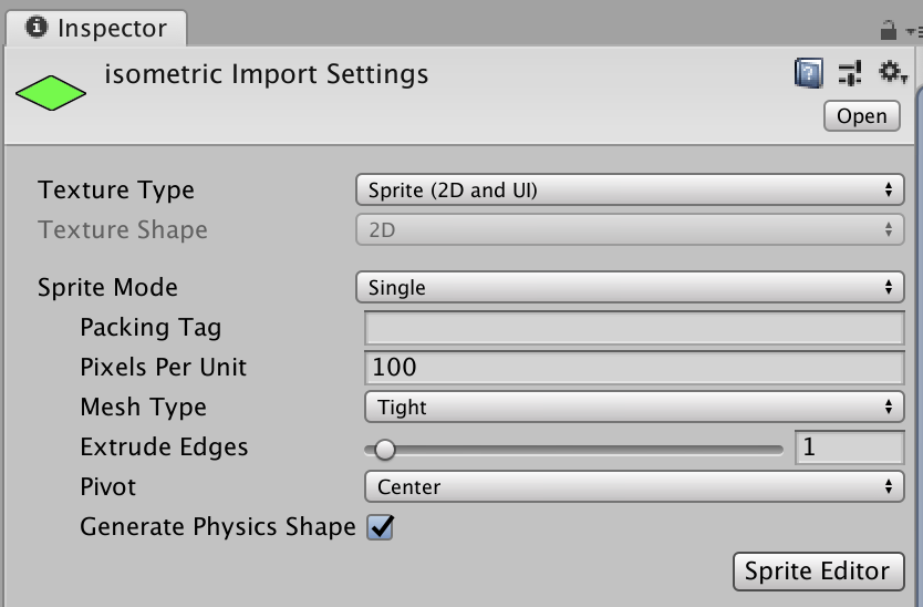 inspector import setting