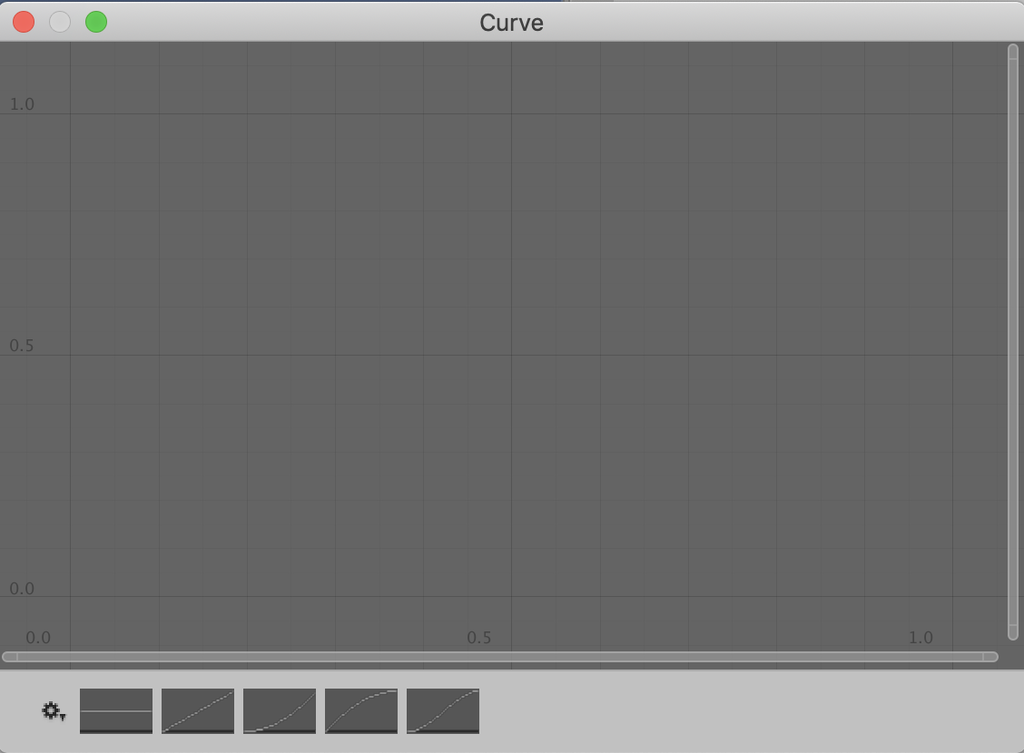 animation curve window