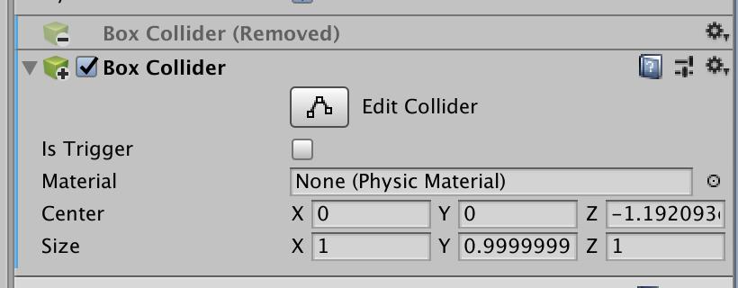 add and remove component in prefab