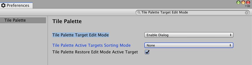 tile palette target edit mode