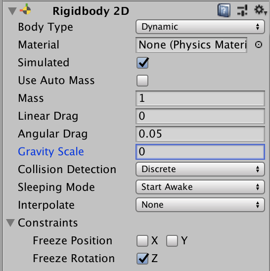 rigidbody 2d gravity scale