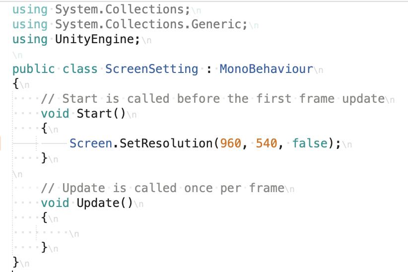 screen setting