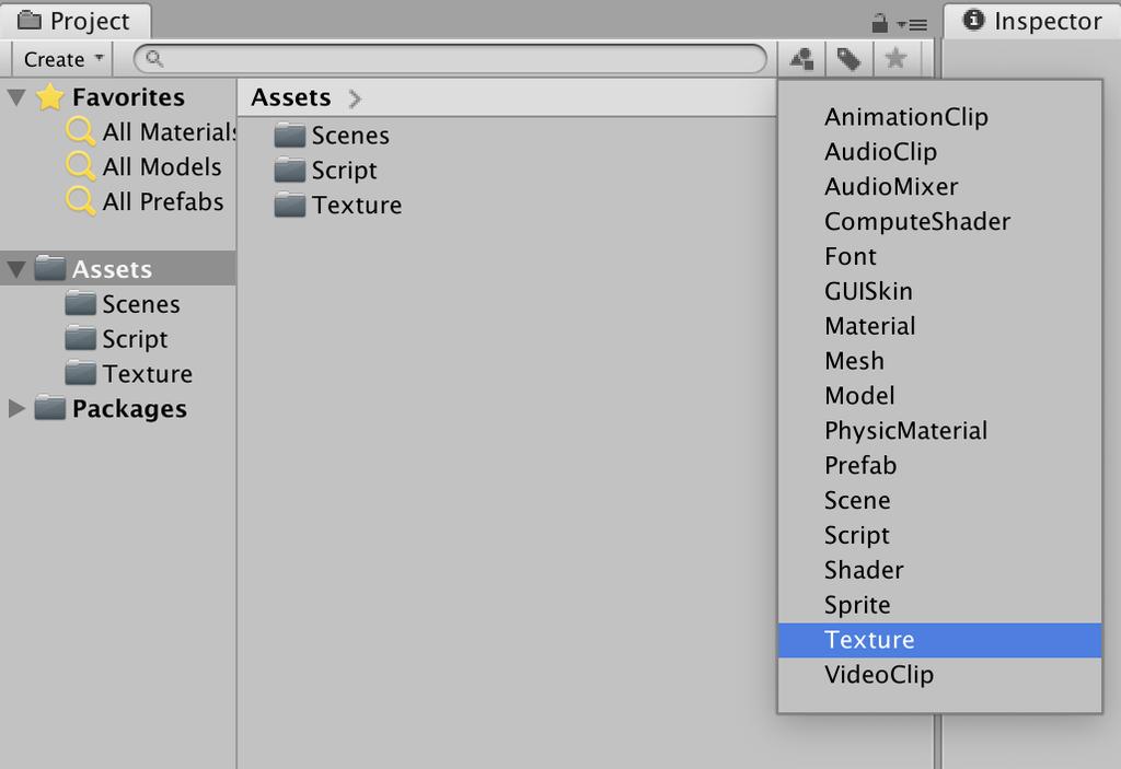 select asset type