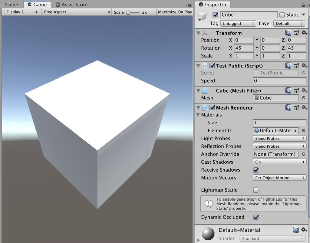 setting cube