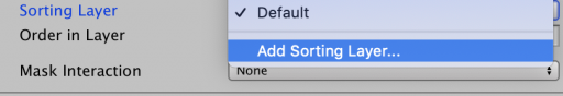 add sorting layer