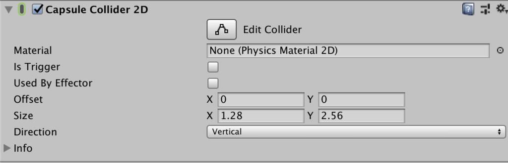 capsule collider inspector