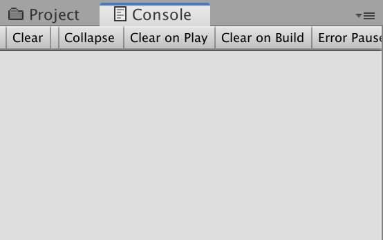 disable game object console