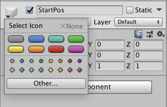 game object color icon