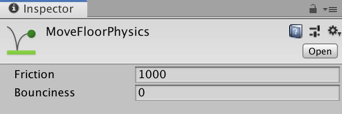 physics material 2d inspector