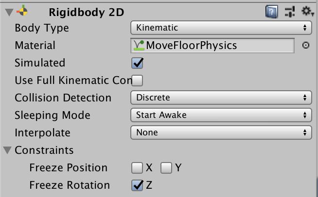 rigidbody 2d set physics material