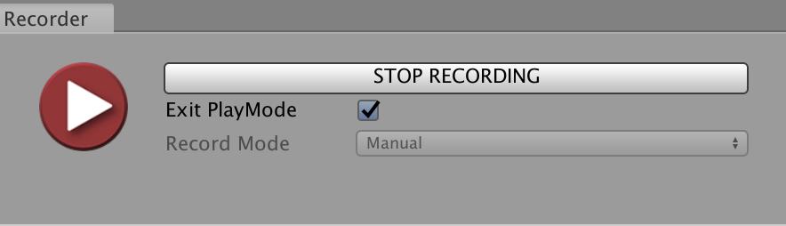 stop unity recorder