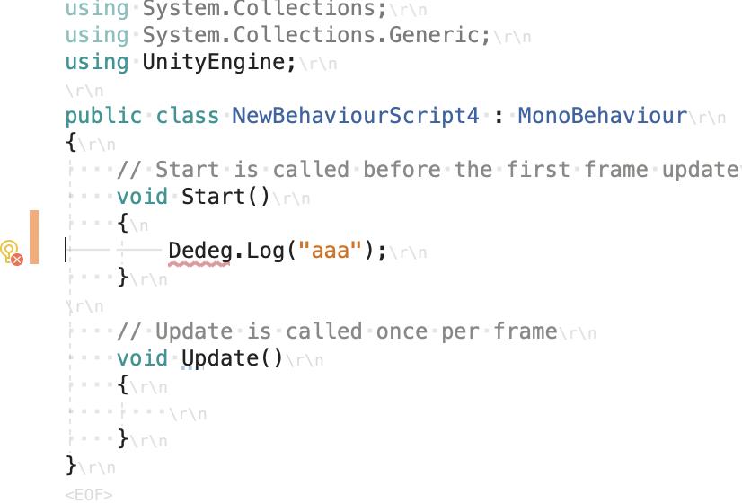 unity error script